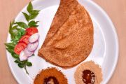Tomato Dosa with Brown Rice