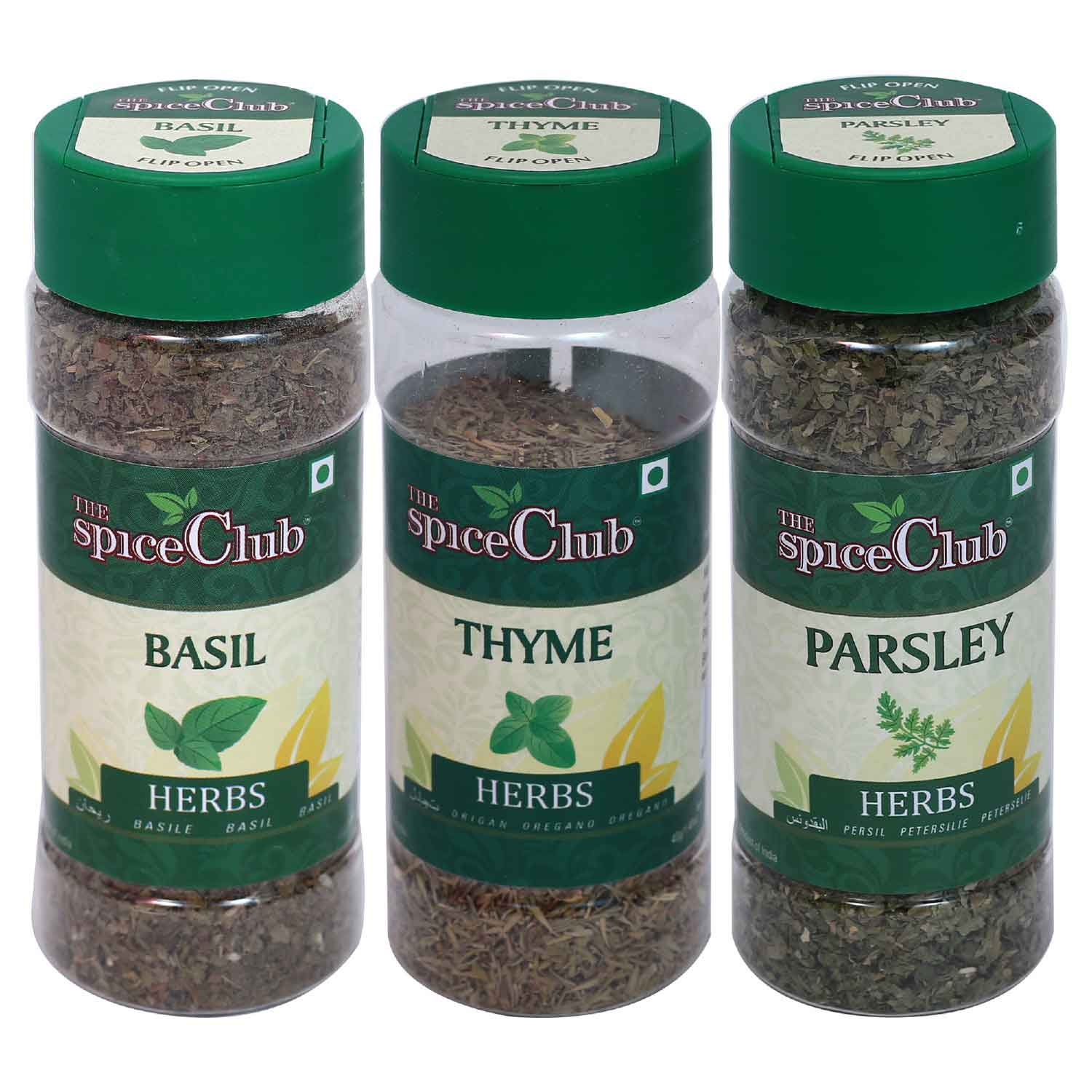 Basil 20gm Pet Jar + Thyme 25 gm Pet Jar + Parsley 20gm Pet Jar