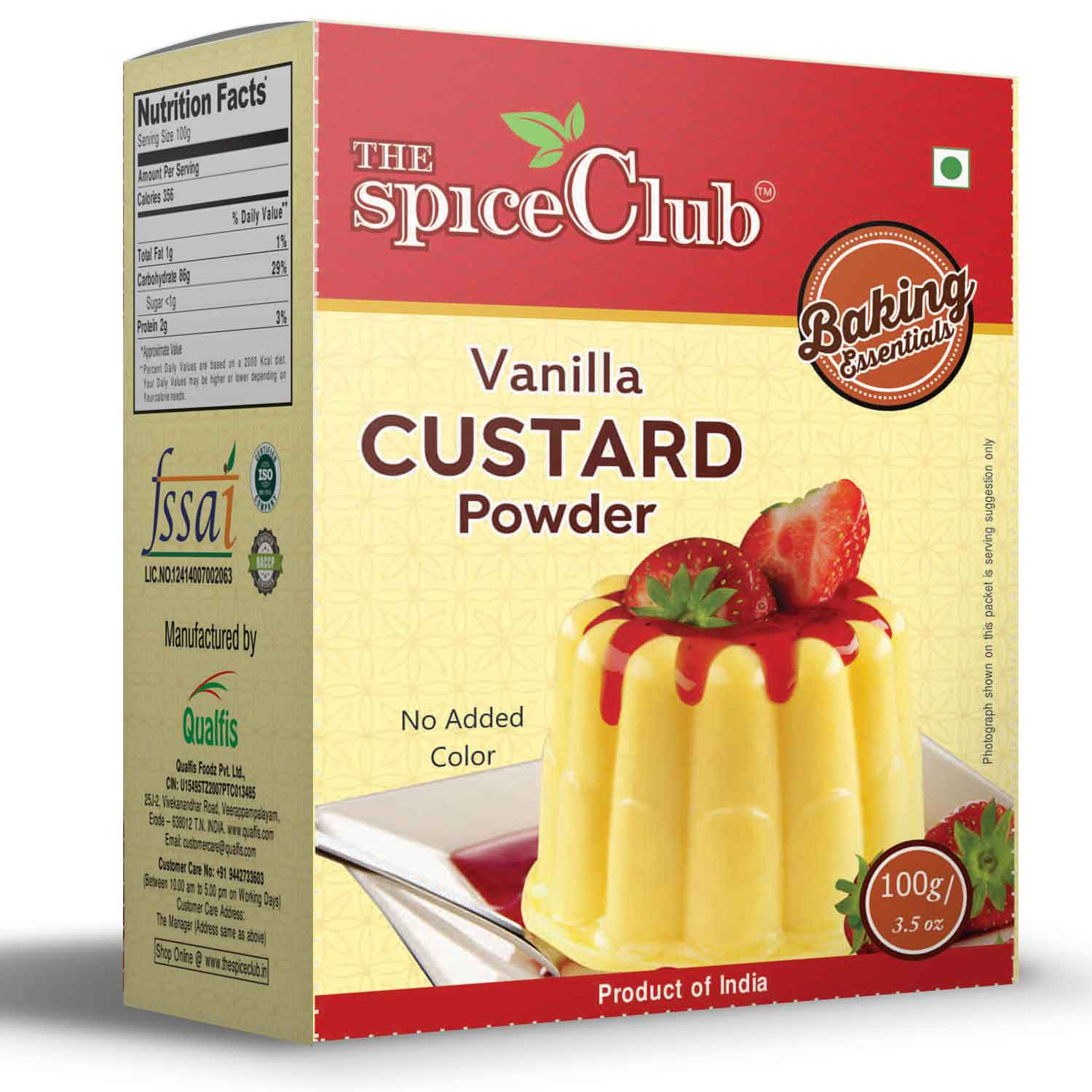 Vanilla Custard Powder 100g