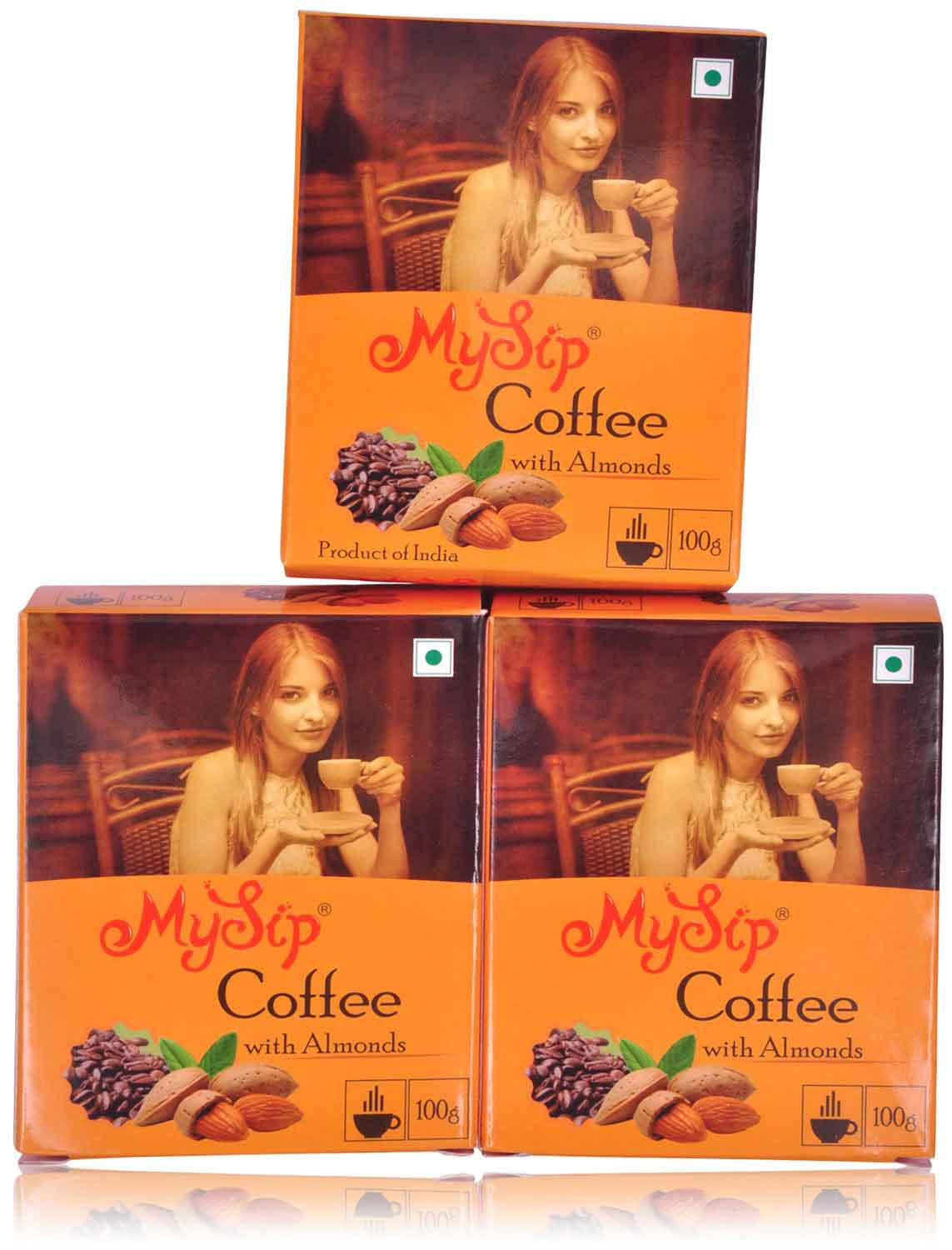 My sip coffee with almond 100gm – ( pack of 3)