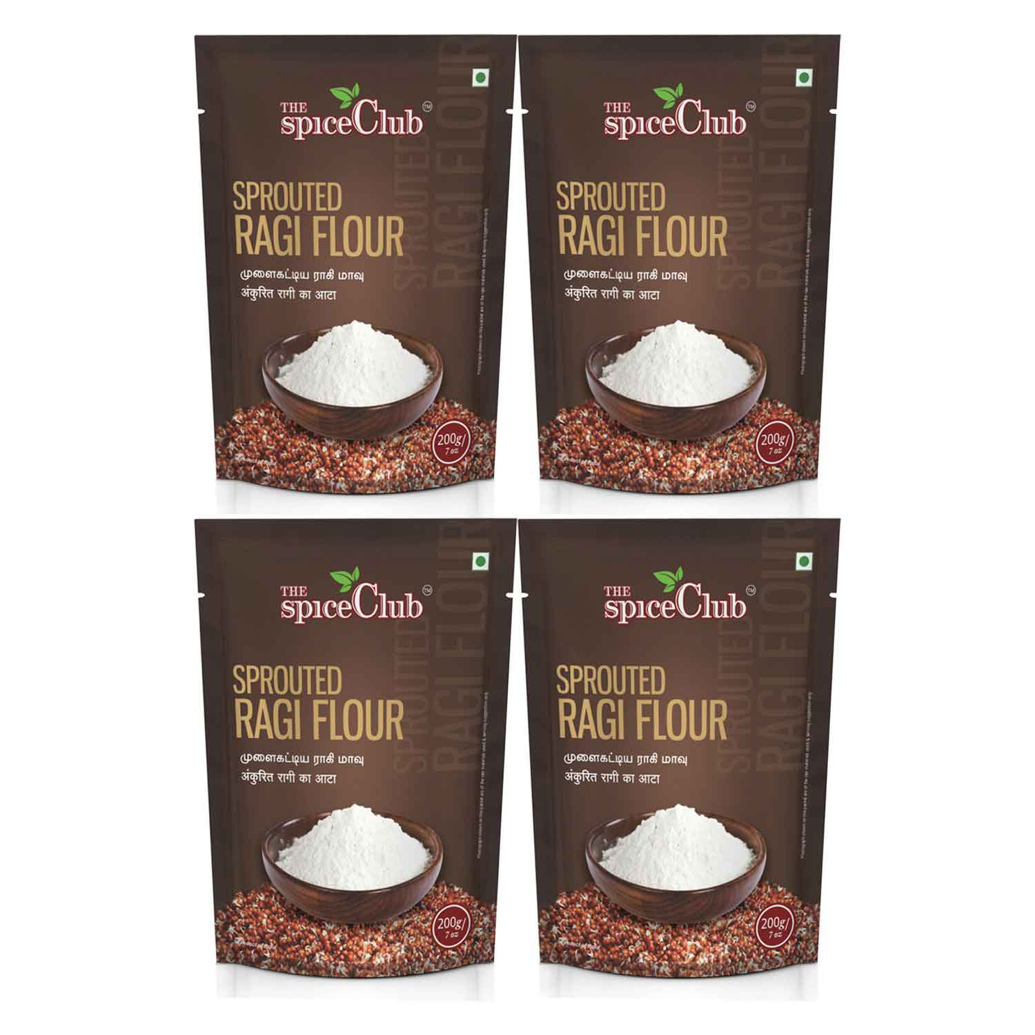 Sprouted Ragi Flour 200g – Pack of 4