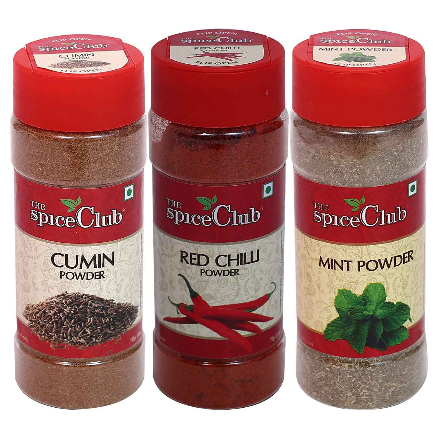 Cumin Powder 70g + Red Chilli Powder 70g + Mint Powder 50g