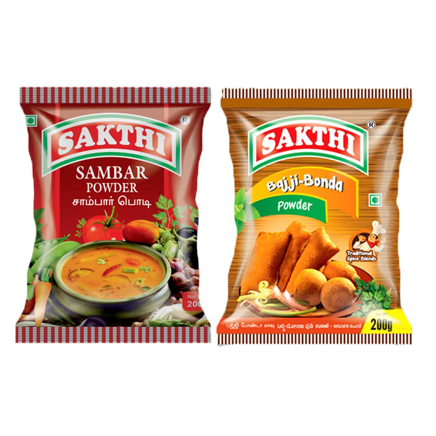 Sakthi Sambar Powder 200gm +Bajji Bonda Powder 200gm