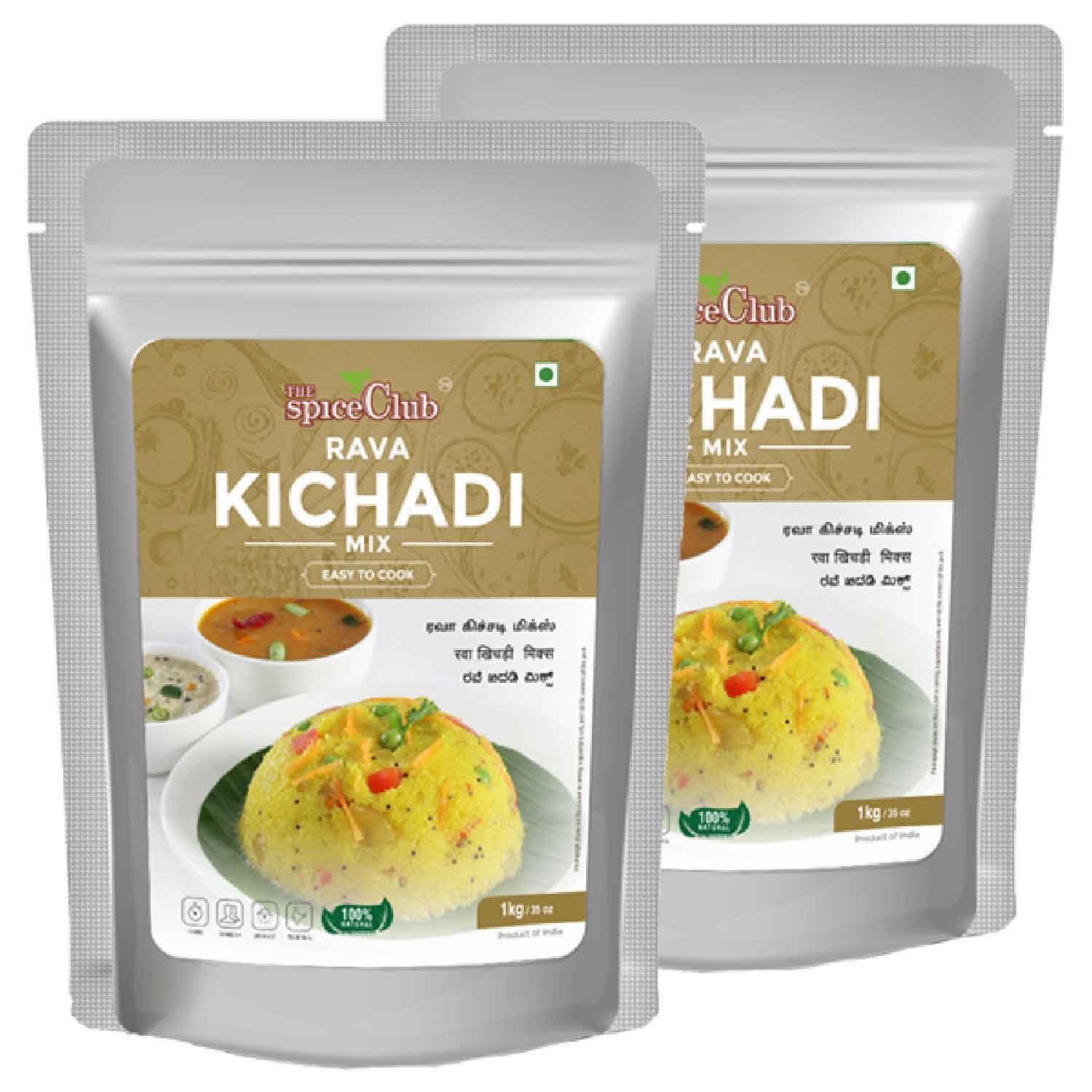 Rava Kichadi Mix 1 Kg (Pack of 2) - ( Easy To Cook, 100% Natural, Traditional)
