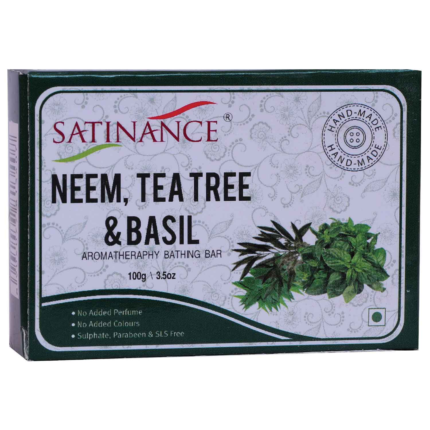 Neem Tea Tree & Basil Aromatherapy Bathing Bar( Transparent Soap)