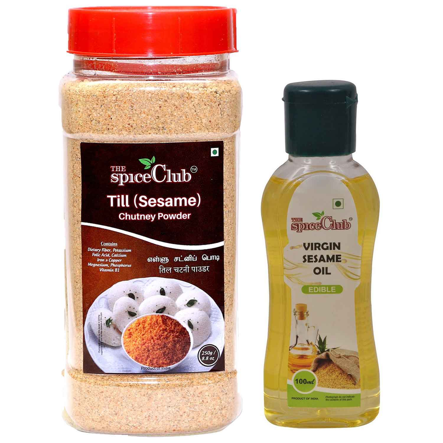 Till (Sesame) Chutney Powder 250g + Virgin Sesame Oil 100ml