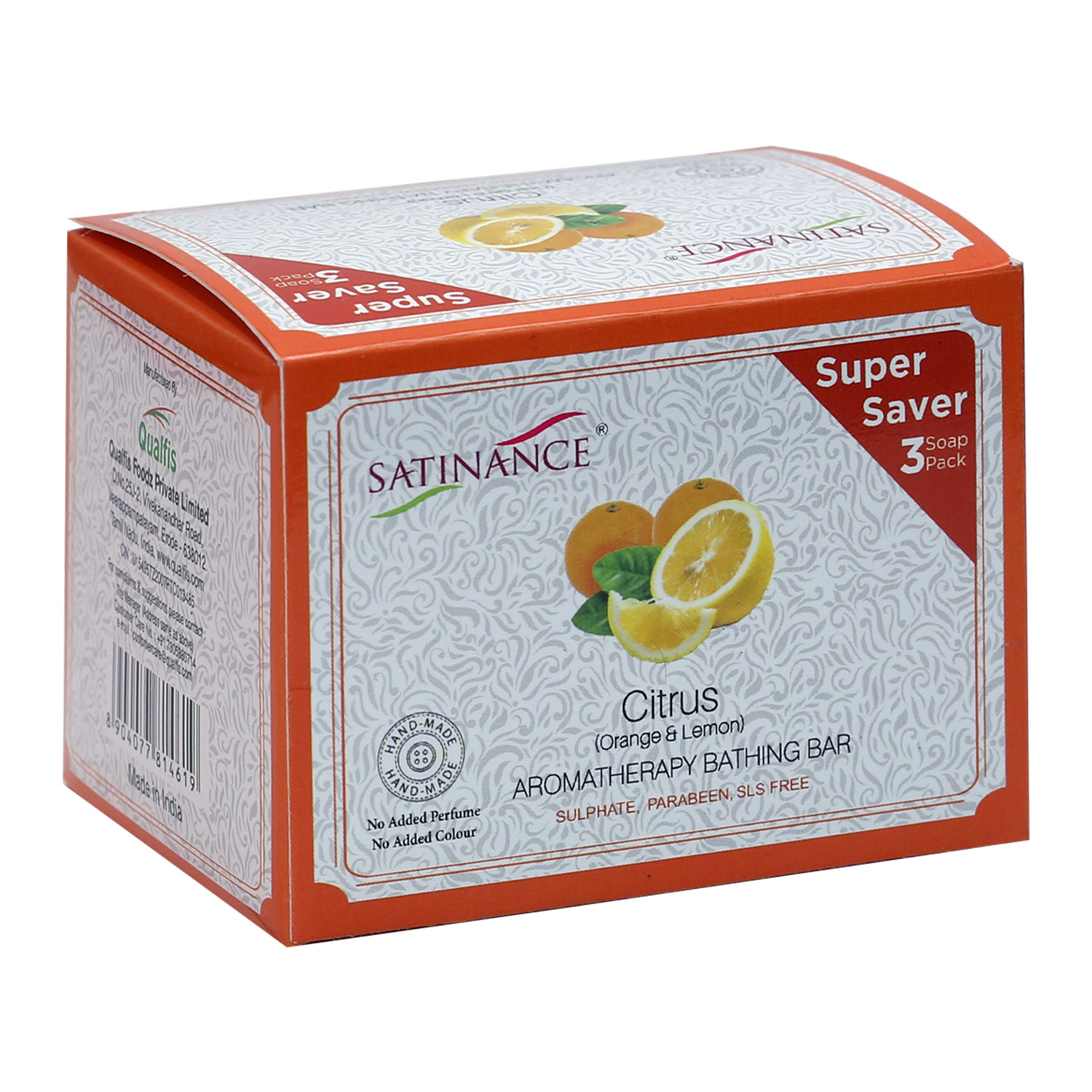Citrus (Orange & Lemon) Aromatherapy Bathing Bar 300g (100g*3) Super Saver Pack