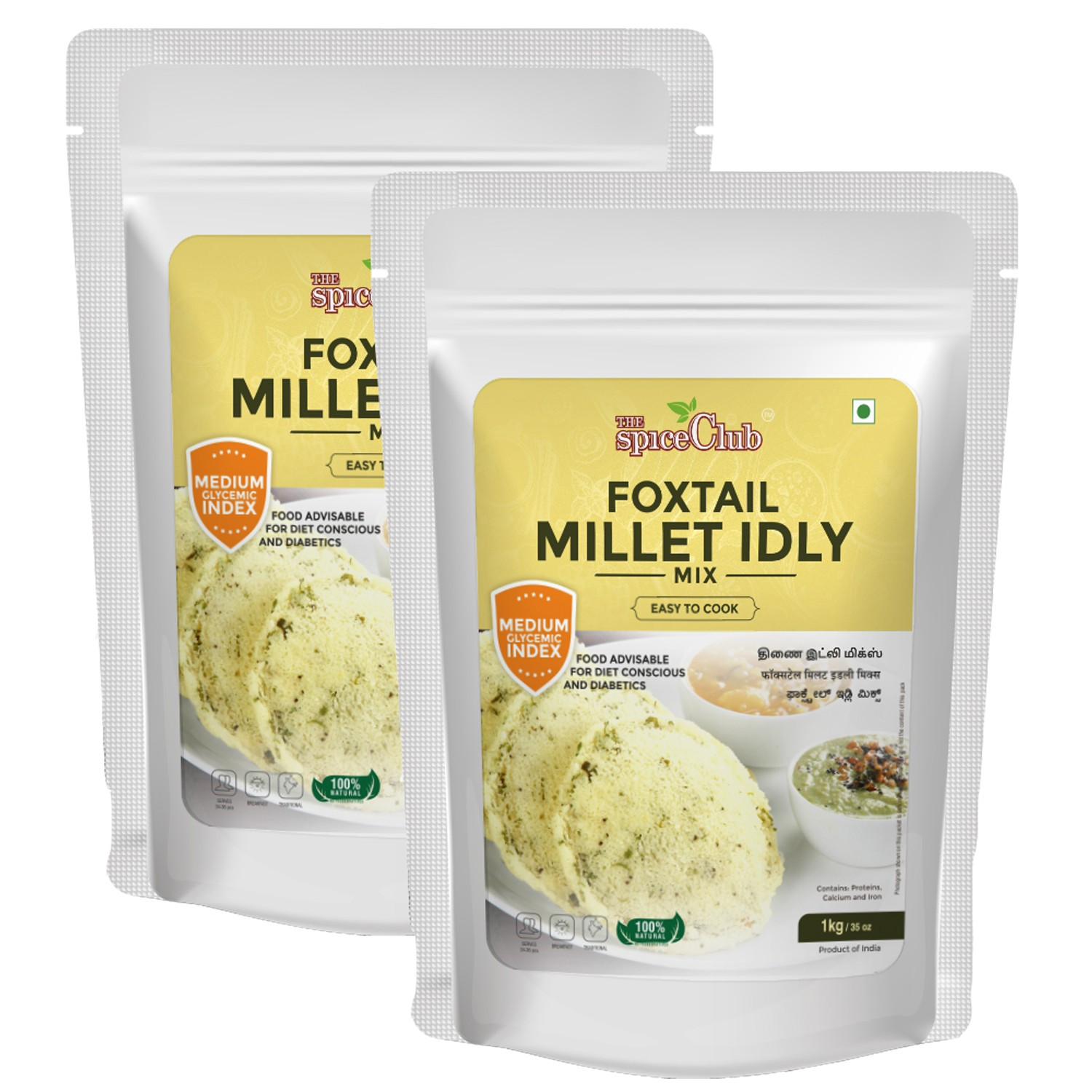 Foxtail Millet Idly Mix 1KG- pack of 2  (100% Natural, No Preservatives, No Artificial Ingredients)