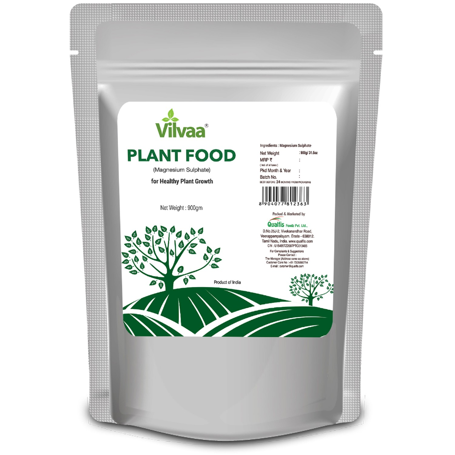 Vilvaa Plant Food ( Magnesium Sulphate ) 900g - For Healthy Plant Growth